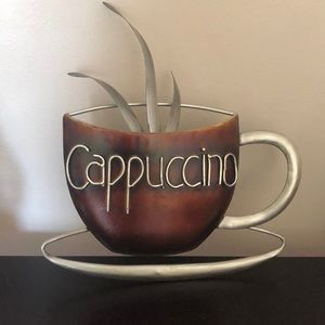 Cappuccino metal wall art